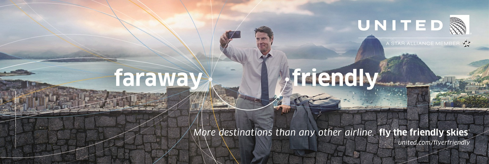 One of United's new print ads