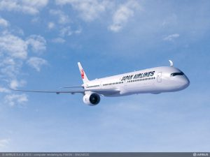 The benchmark Japan Airlines purchase agreement with Airbus is for 13 A350-1000s, along with 18 shorter-fuselage A350-900 jetliners