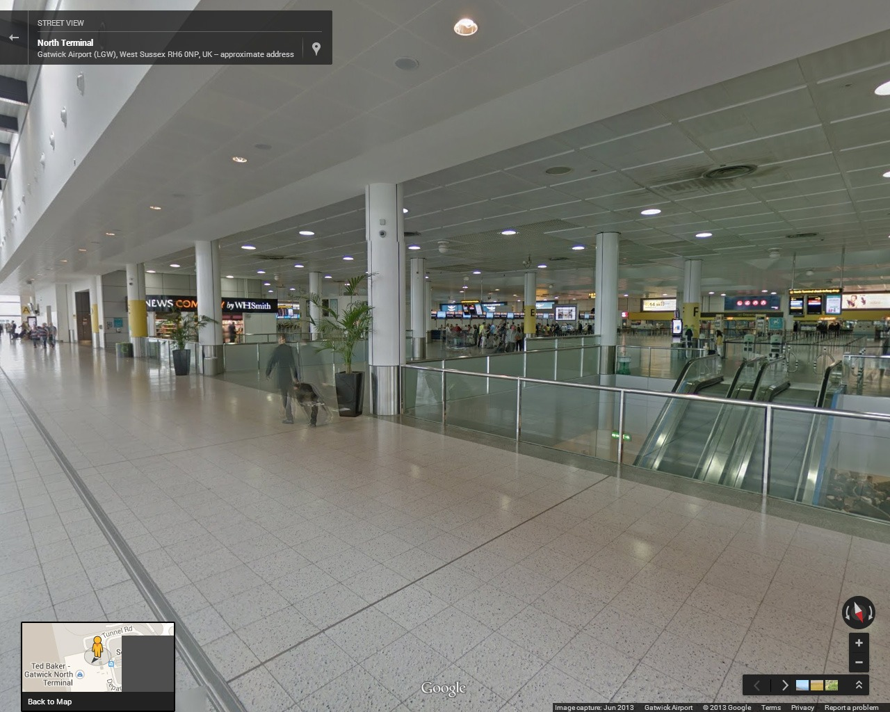Google Street View of London's Gatwick Airport.