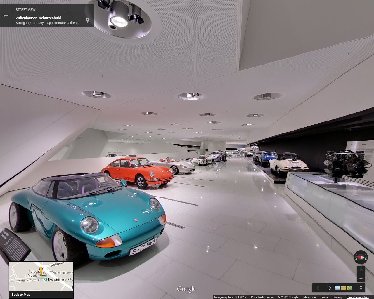 Google Street View of the Porsche Museum in Germany.