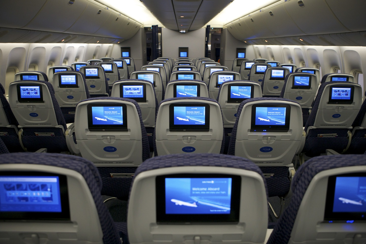 United's Economy Plus on board a Boeing 767 aircraft.