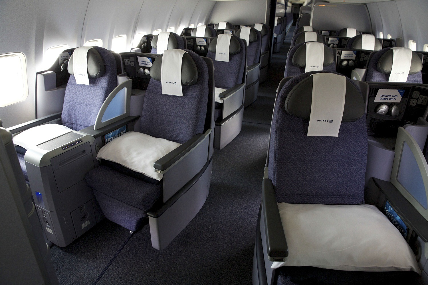United's BusinessFirst cabin on P.S. aircraft