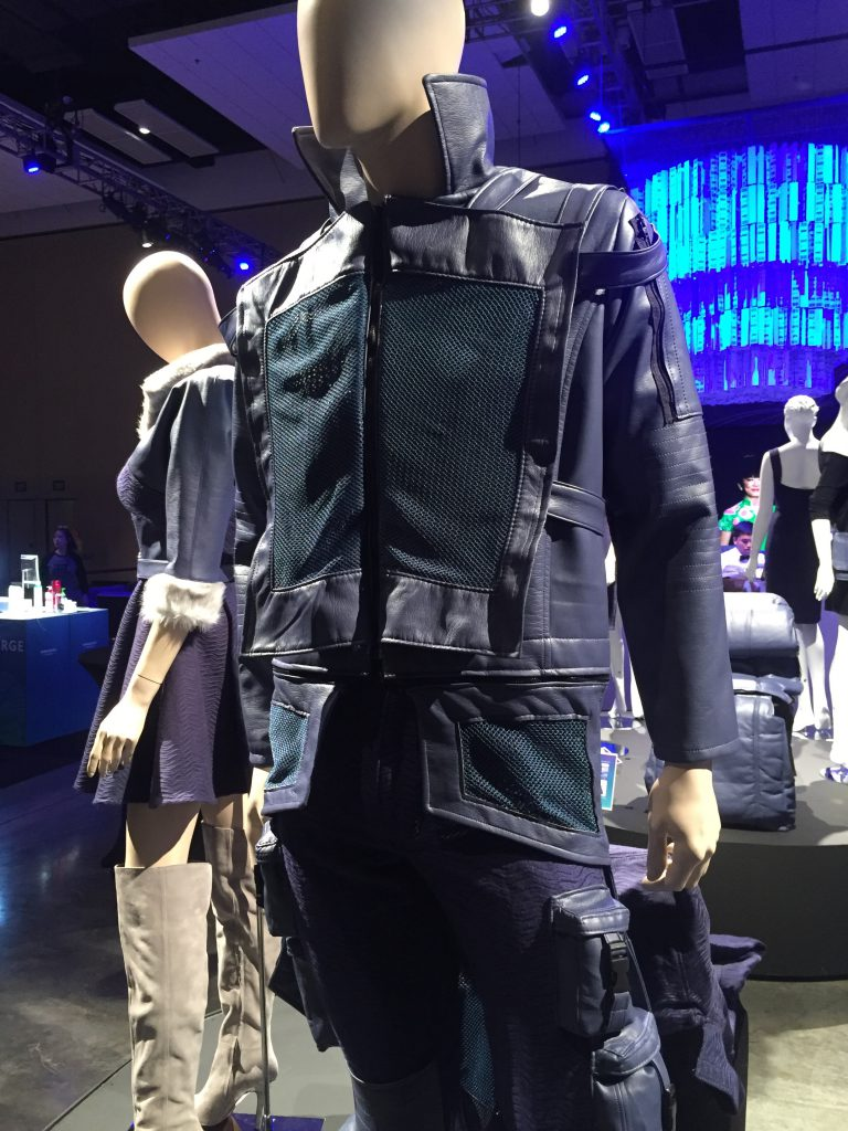 Upcycled design by: Jacky Lau, HonCC Fashion Technology Program graduate. Picture courtesy of Hawaiian Airlines.