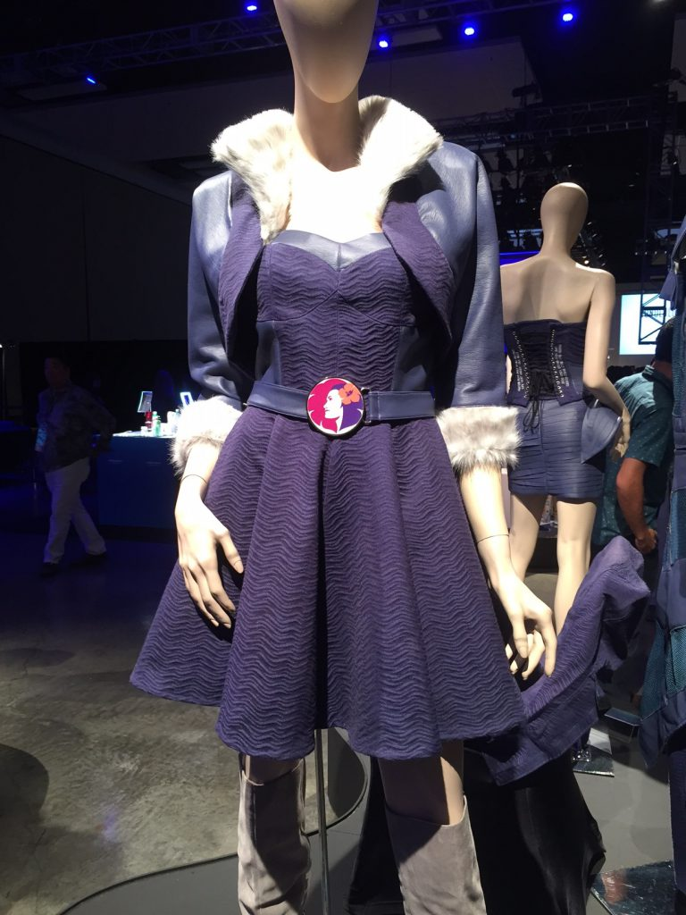 Upcycled design by: Chai Lim, HonCC Fashion Technology Program graduate. Picture courtesy of Hawaiian Airlines.