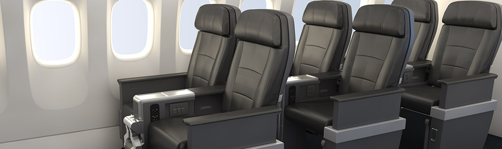 A preview of the seats in American Airlines future Premium Economy. (Photo: American Airlines)