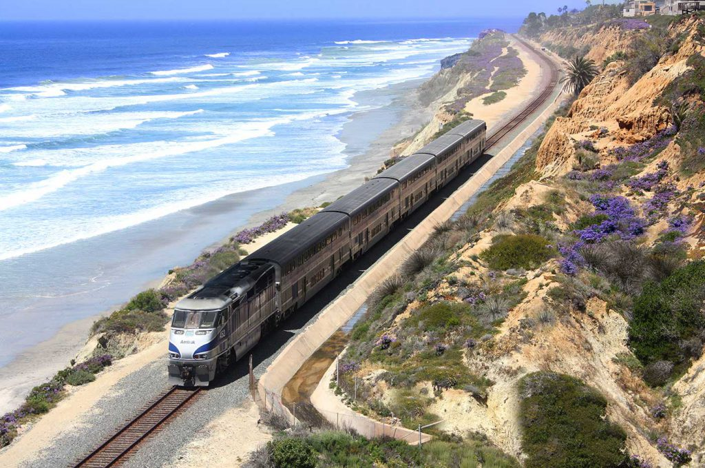 Amtrak along the coast