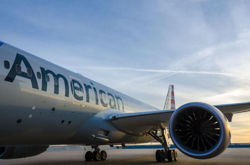 An exterior shot of American Airline's new Boeing 787. Image courtesy of American Airlines.