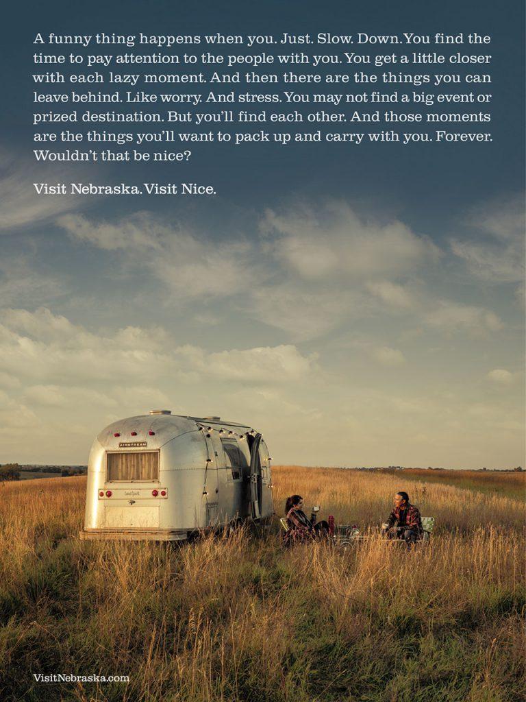 Visit Nebraska.  Visit Nice.  Advertisement created by Omaha-based ad agency, Bailey Laureman.