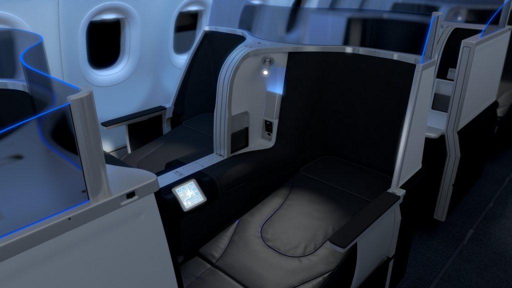 JetBlue's Mint lie flat seat.