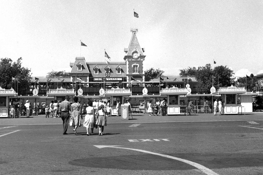 Disneyland entrance, circa 1960.