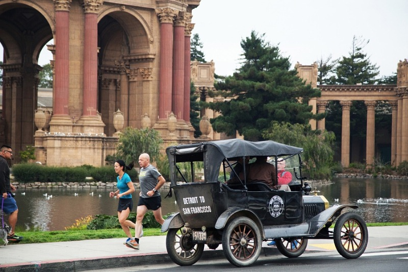 1915 Ford Model T Ends Cross-Country Trip in San Francisco Just as it Happened 100 Years Ago in Celebration of the 1915 World's Fair (PRNewsFoto/California Historical Society)