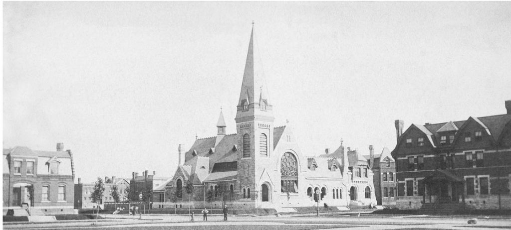 The Greenstone United Methodist Church in the Pullman Neighborhood in 1883.