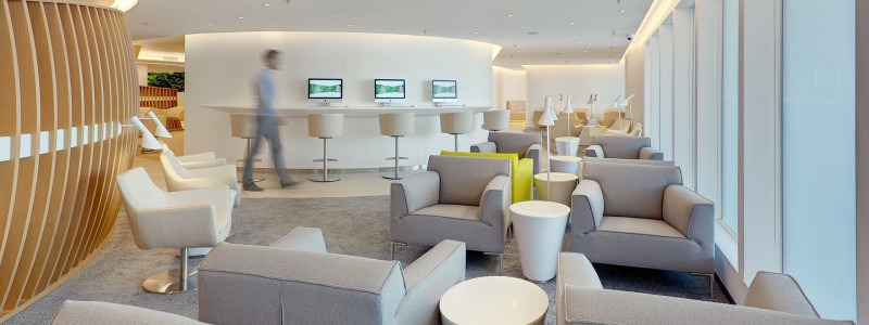 The new SkyTeam premium lounge in Hong Kong.