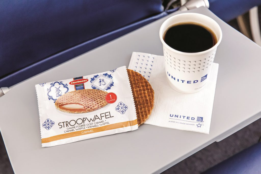 Stroopwafel – a Dutch, caramel-filled waffle. (Photo: United Airlines/Terry Halsey)
