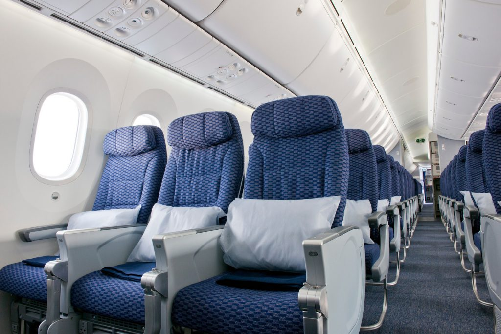 Economy seating on aboard United's Boeing 787 Dreamliner.  Image: United Airlines