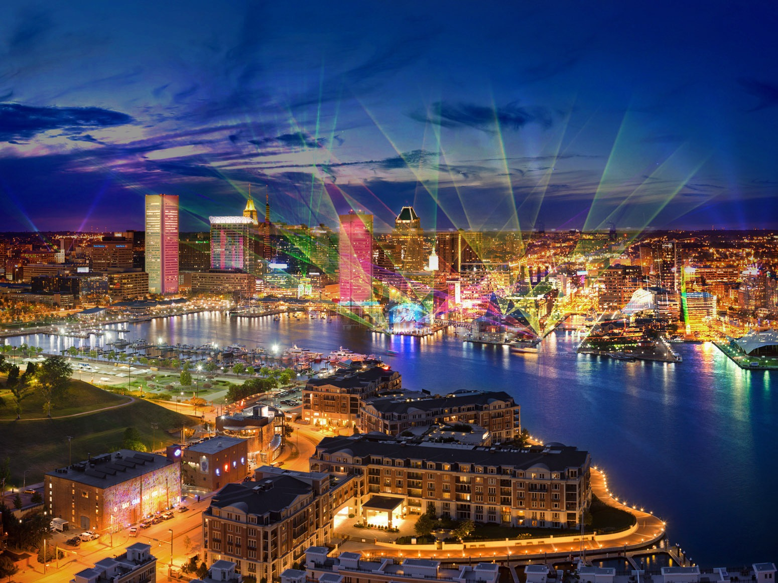 baltimore lights up with light city go jetting