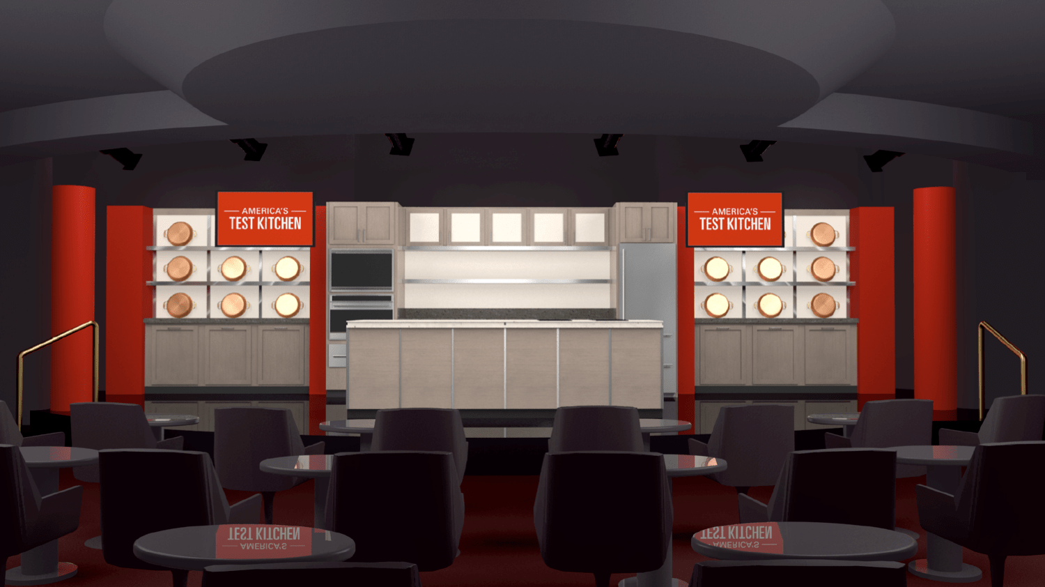 Rendering of the America's Test Kitchen on board selected Holland America ships. Photo: Holland America Line