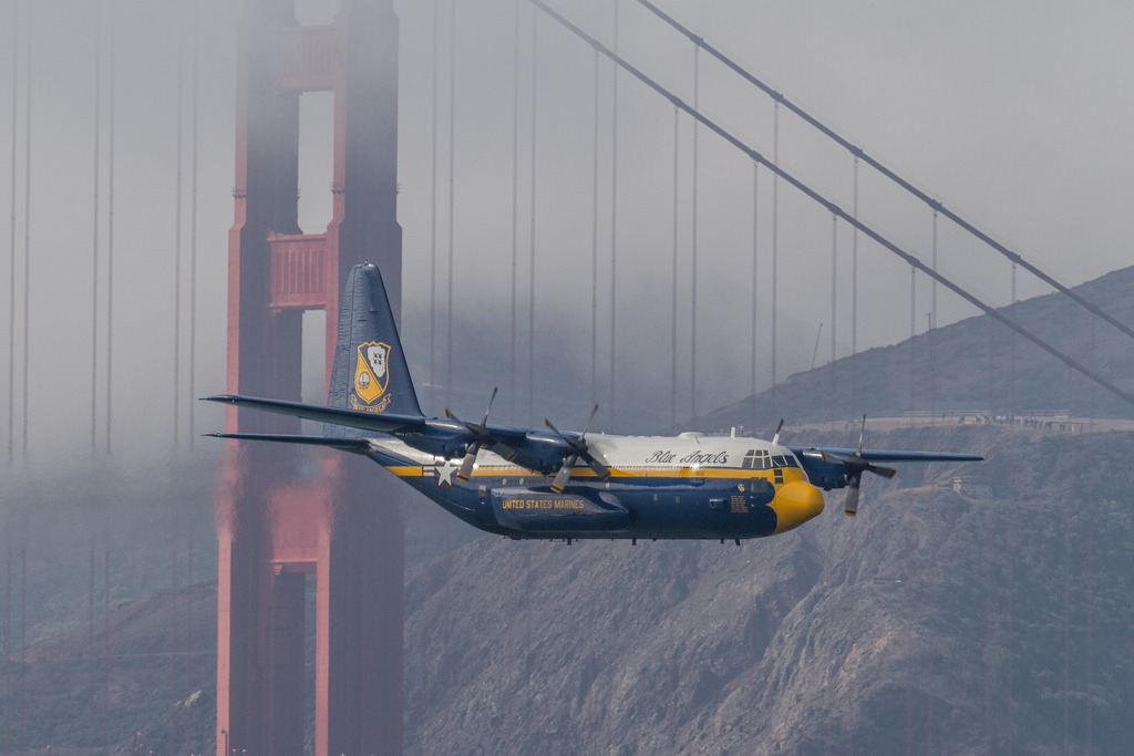 Fat Albert in front of the Golden Gate Bridge. Photo: Bhautik Joshi