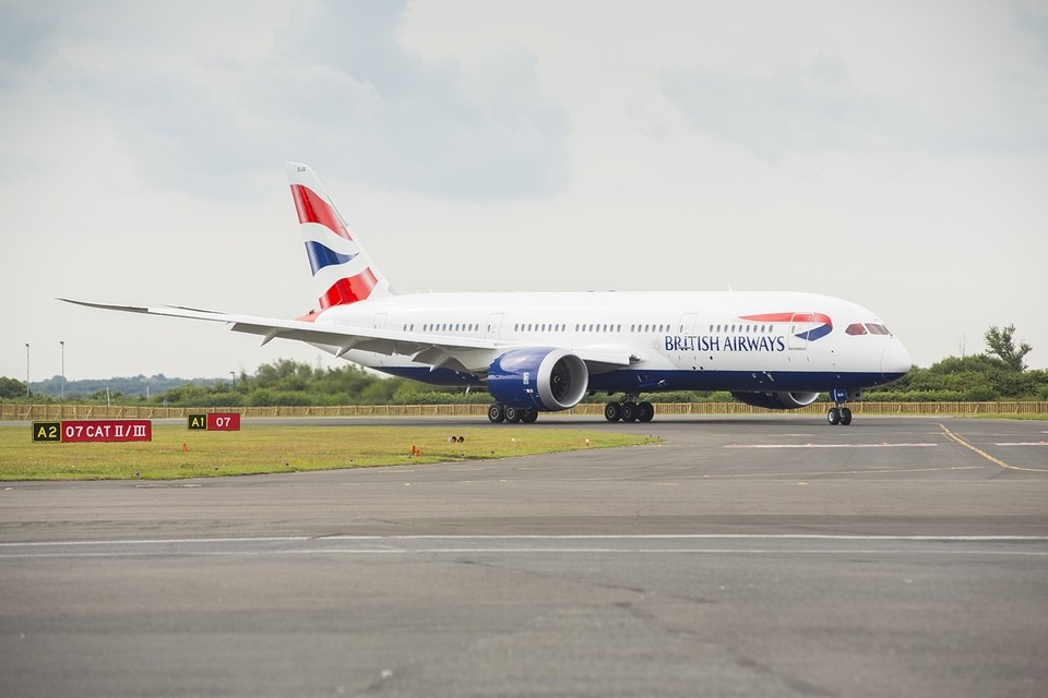 British Airways Boeing 787 Dreamliner.  Image: British Airways