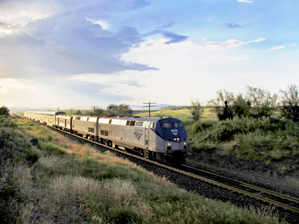Amtrak train in Washington