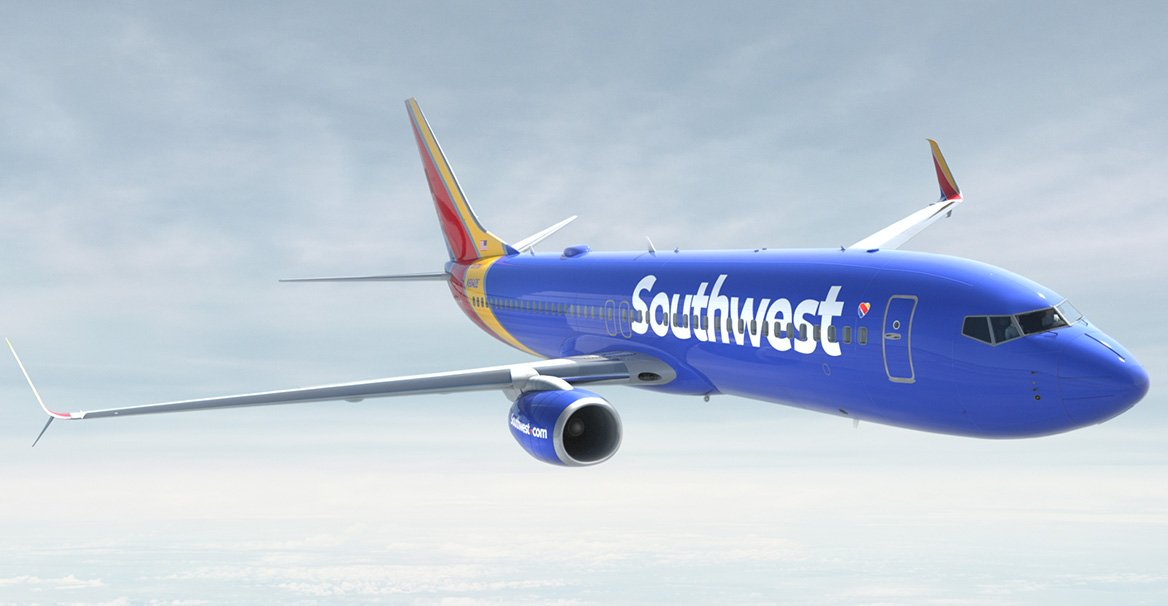 Southwest Airlines Boeing 737 in flight