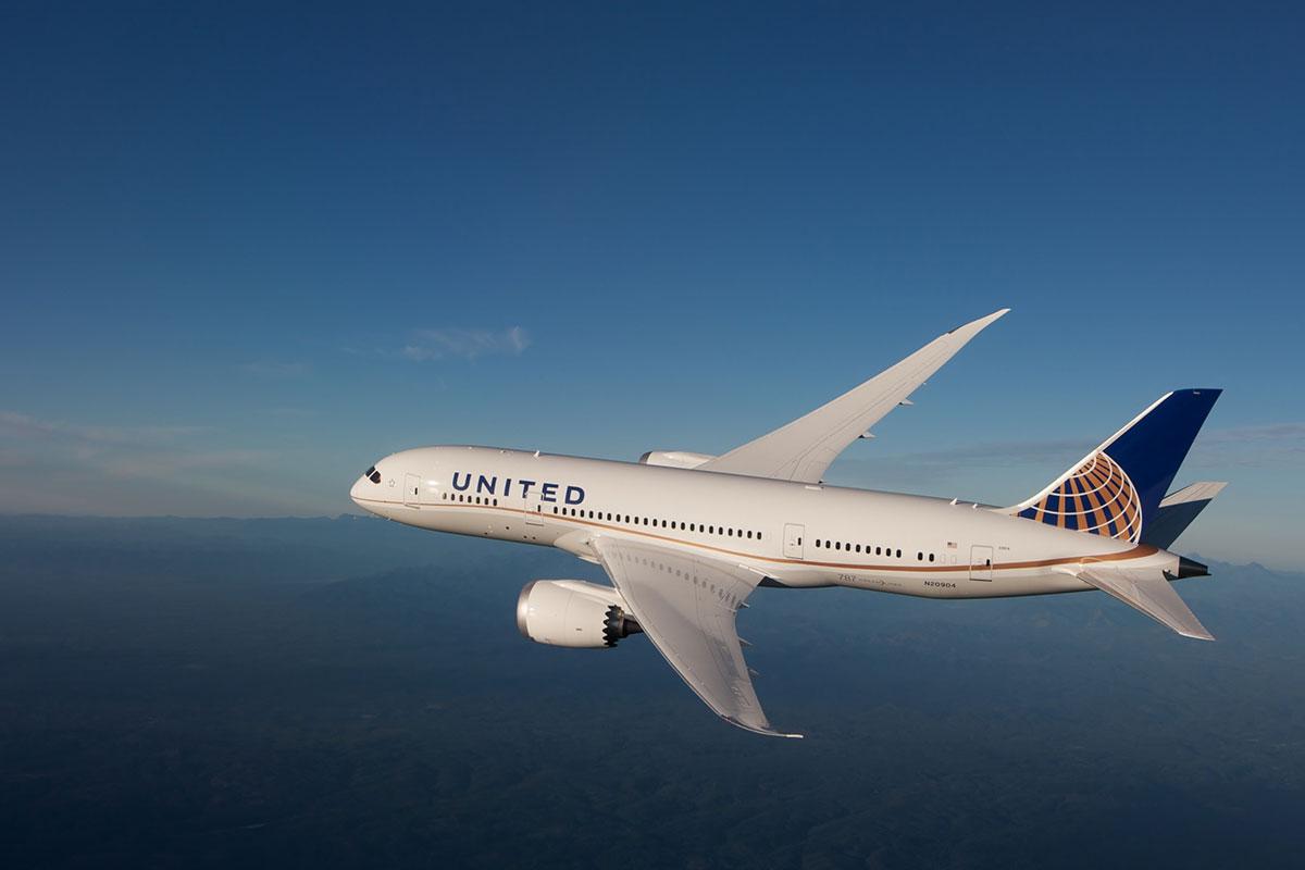 United Airline Boeing Dreamliner