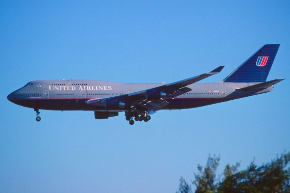 United's 747 in the grey ghost paint scheme.