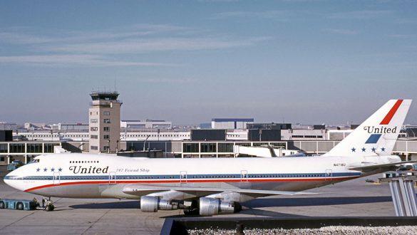 United's 747 in the Friendship scheme at New York's Kennedy International.