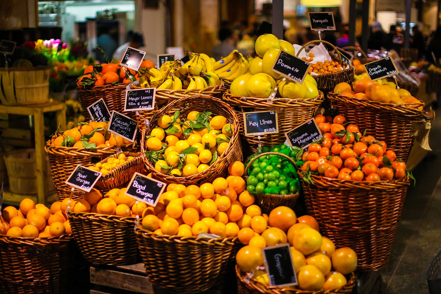Colorful fruits at Eataly