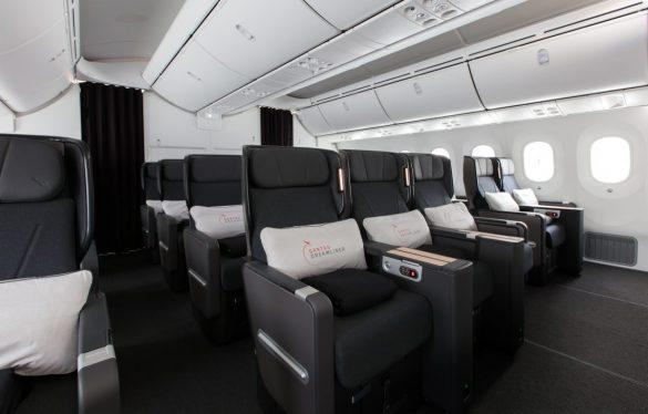 Premium Economy cabin on board the Qantas Boeing Dreamliner. Image: Qantas
