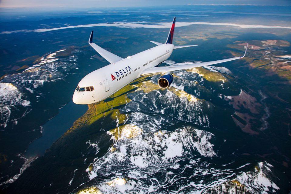 Delta Air Lines aircraft in flight