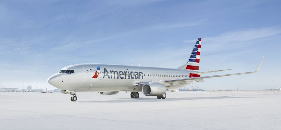 American Airlines aircraft taxiing