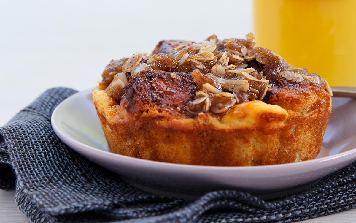 United Airlines' bread pudding