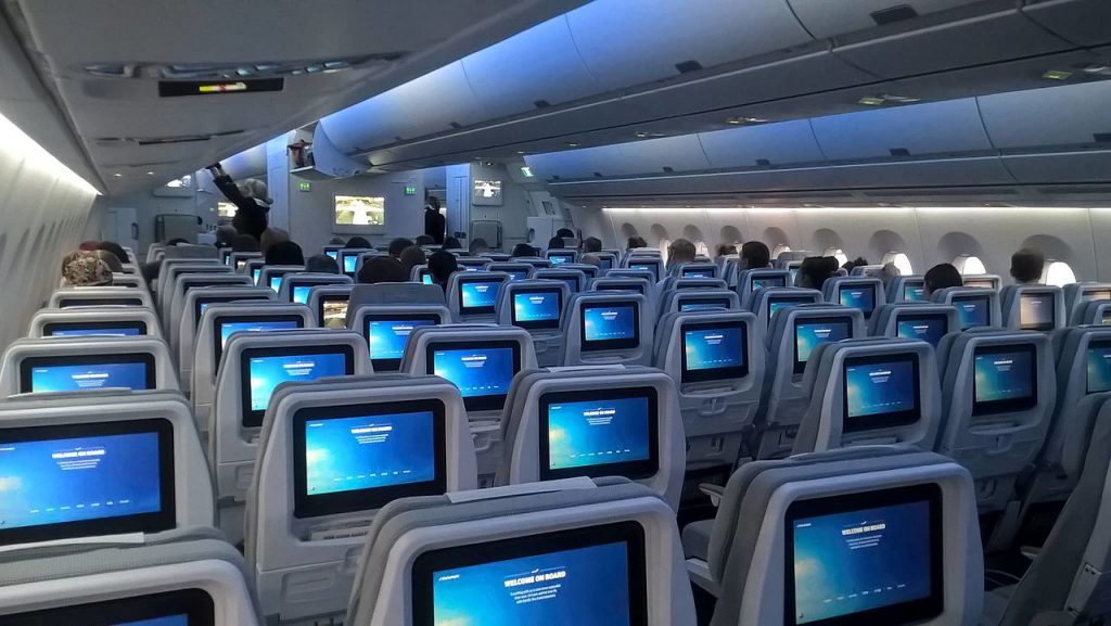Finnair Airbus A350 Economy Cabin
