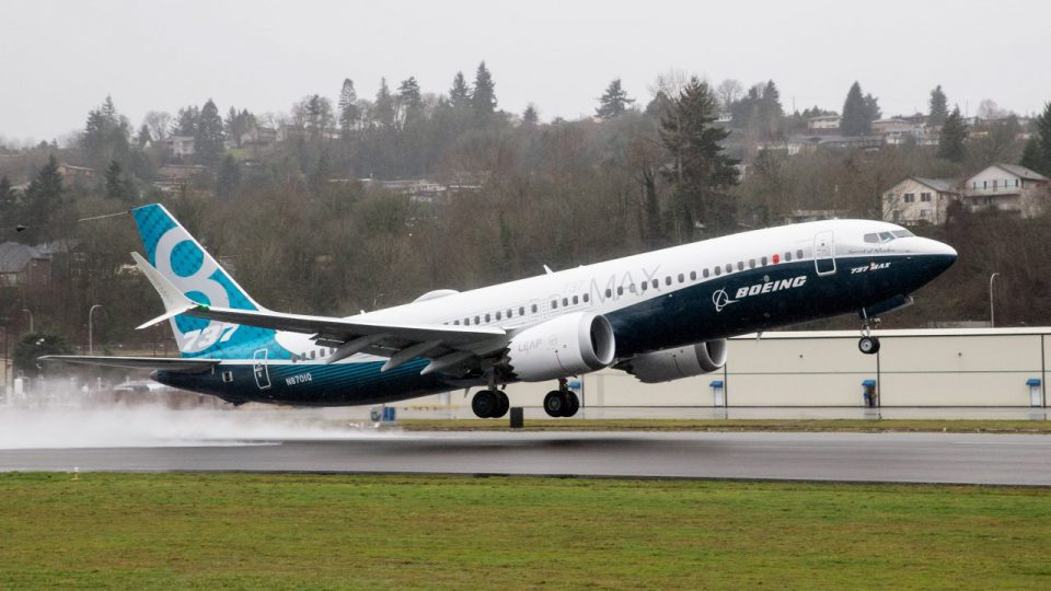 Boeing 737 Max taking off