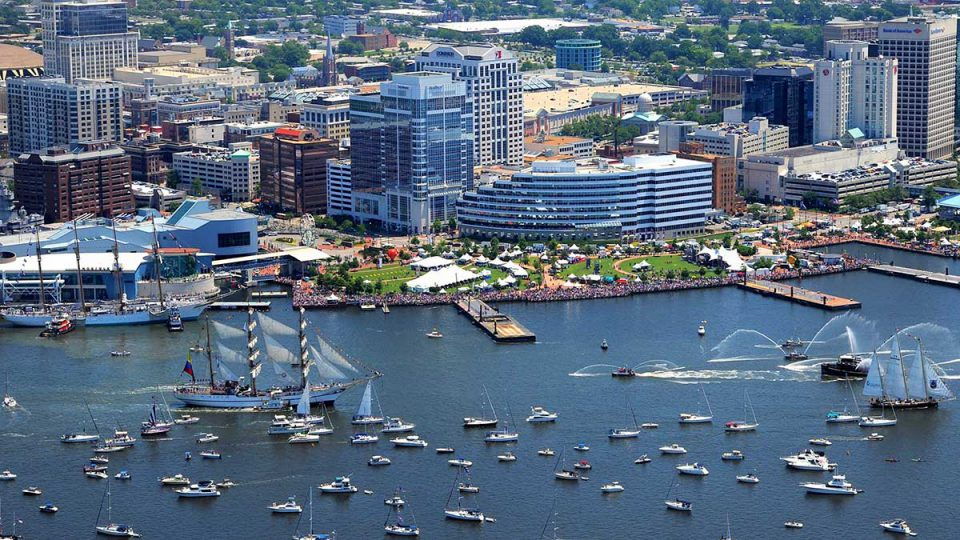 Norfolk, VA harbor