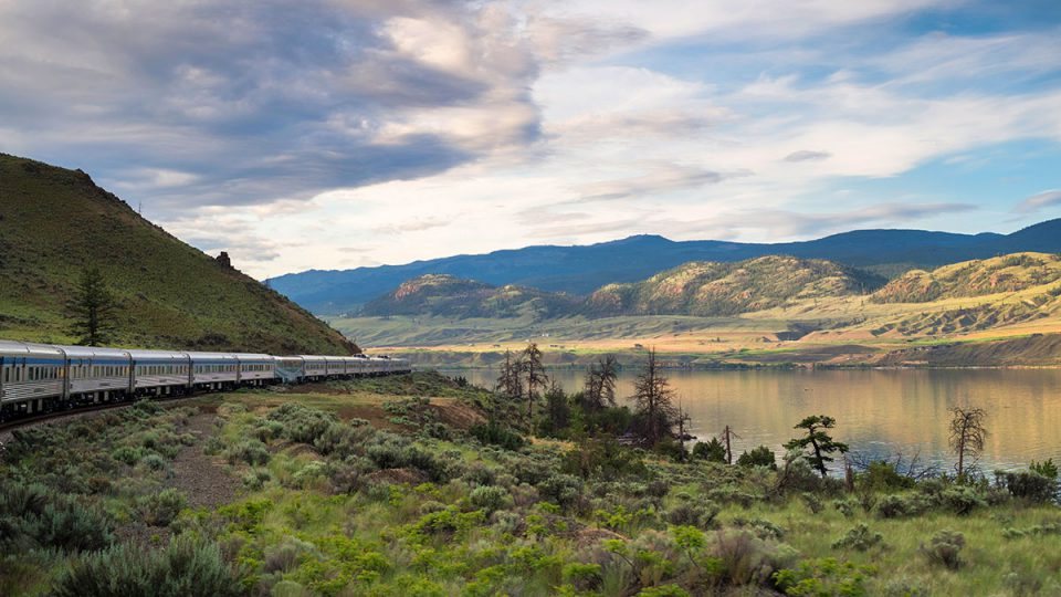 Via Rail train in western Canada