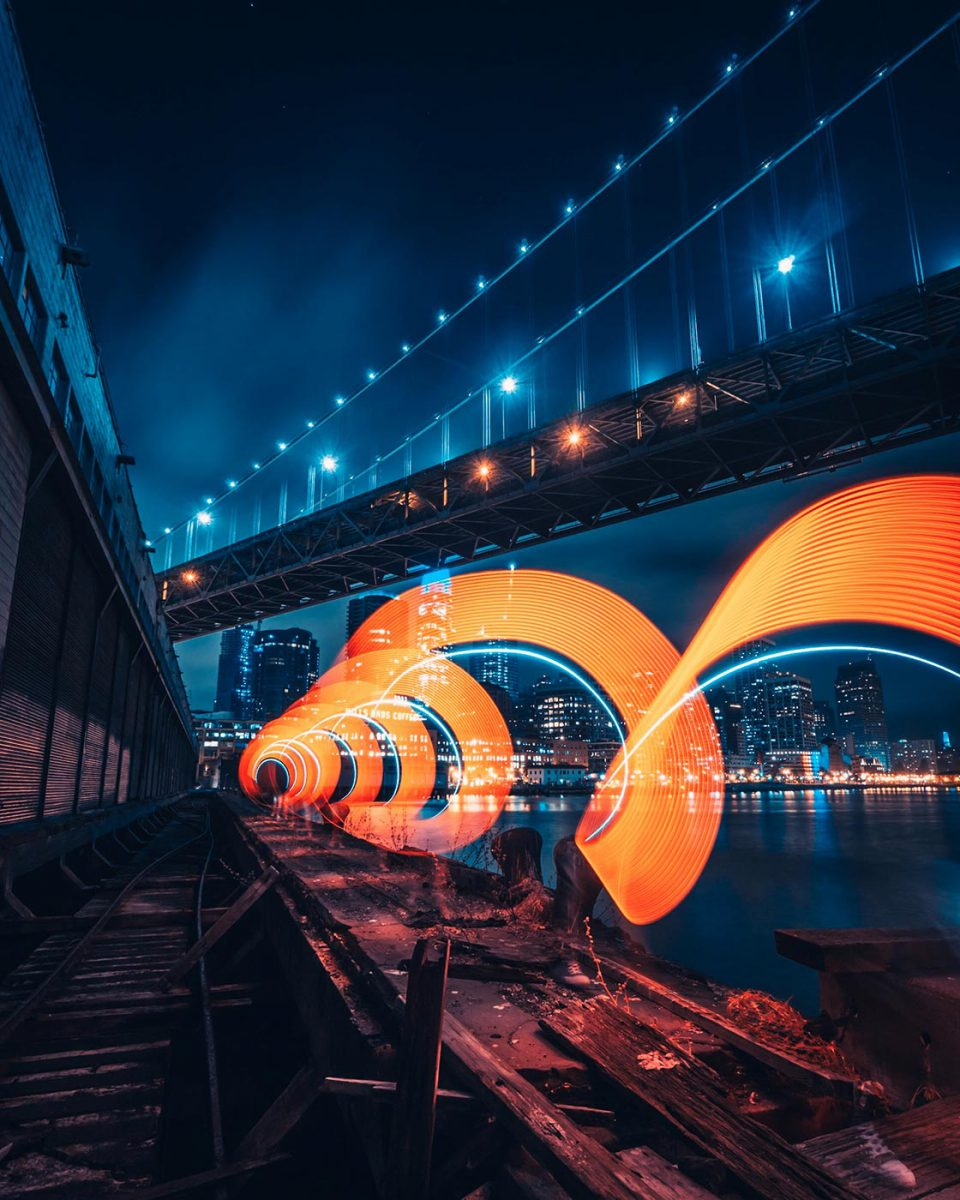 Light painting in San Francisco
