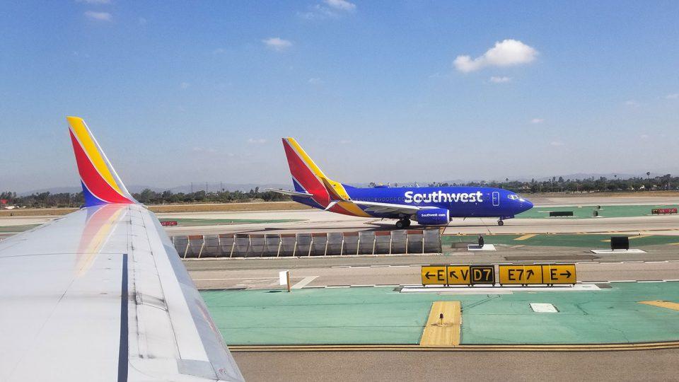 Southwest plane in Los Angeles