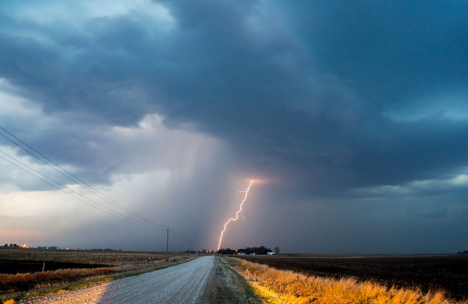 Lightning in Iowa