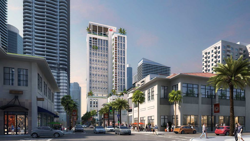 Rendering of Virgin Hotels in Miami