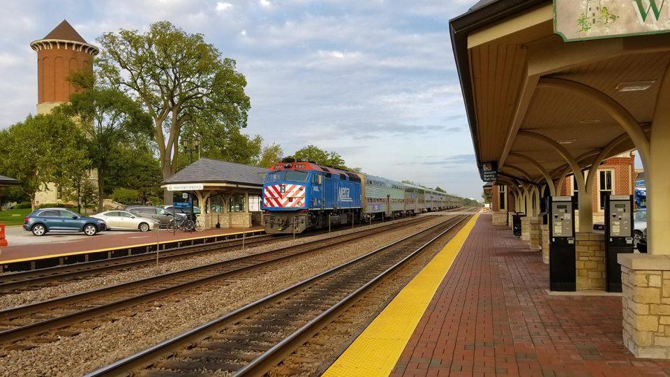 Metra at Western Springs