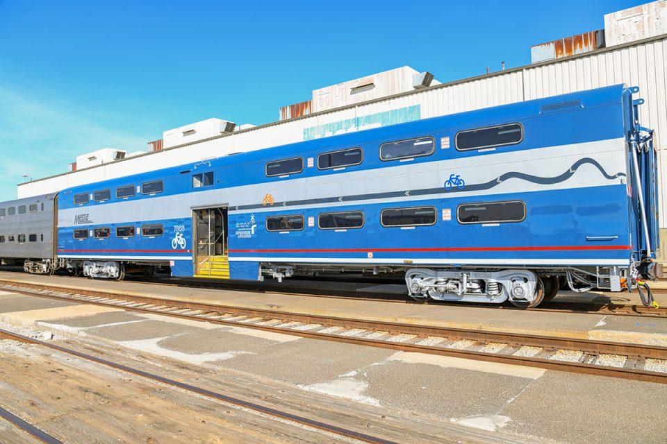 Metra Rail commuter train car for bikes